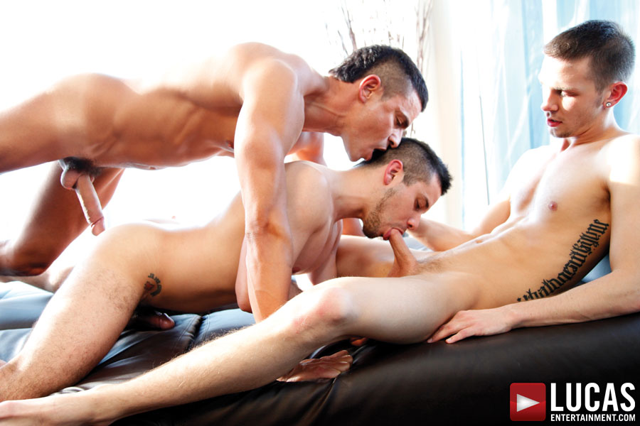 Rafael Carreras, Arnaud Chagall, and Nikko Brave | Gay Sex Threesome
