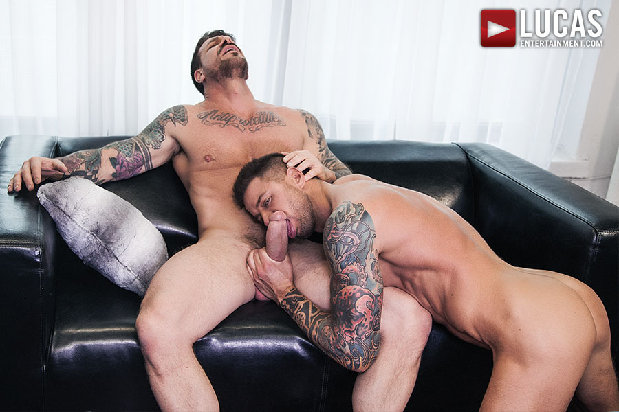 Dolf Dietrich Sucks On Rocco Steele's Huge Cock