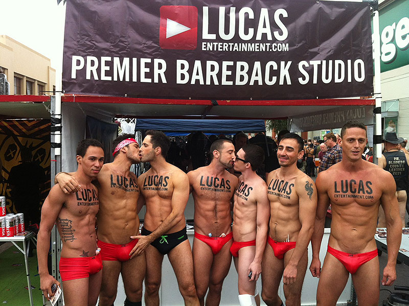 The Lucas Entertainment Team At Folsom Street Fair 2014