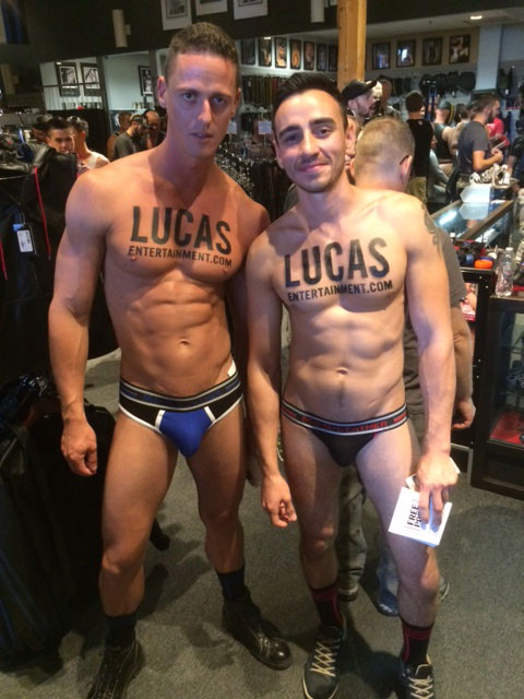 Nigel Banks and Ivan Gregory At Mr. S Leather In San Francisco
