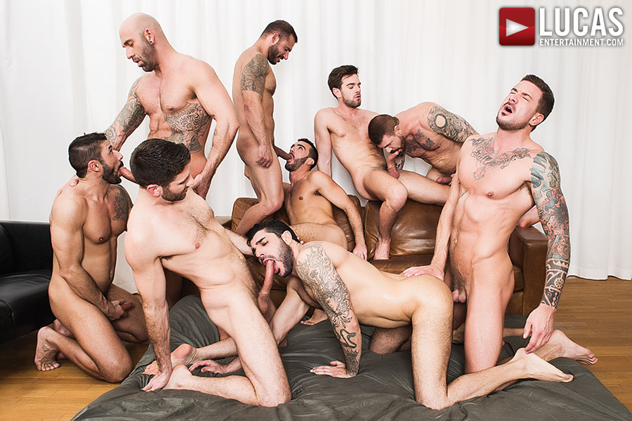 Here's A Free Preview Of The 9-Man Part 02 Of Rocco Steele's Breeding Party