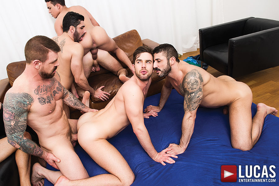 Don't Miss Rocco Steele's Bareback Orgy Finale This Friday