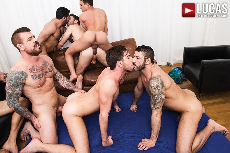 Bareback gay orgies