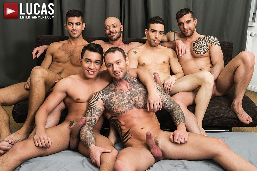 Dylan James Is Back On Friday And Takes Charge Of A Six-Man Fuck Party
