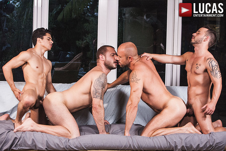 gay daddy orgy clips