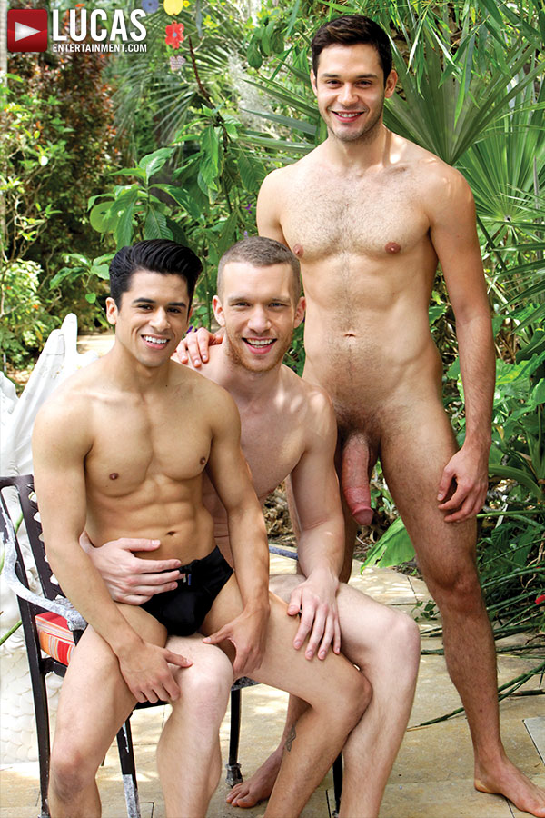 The Ultimate Poolside Threesome Starring Leo Alexander, Jake Andrews, And Armond Rizzo