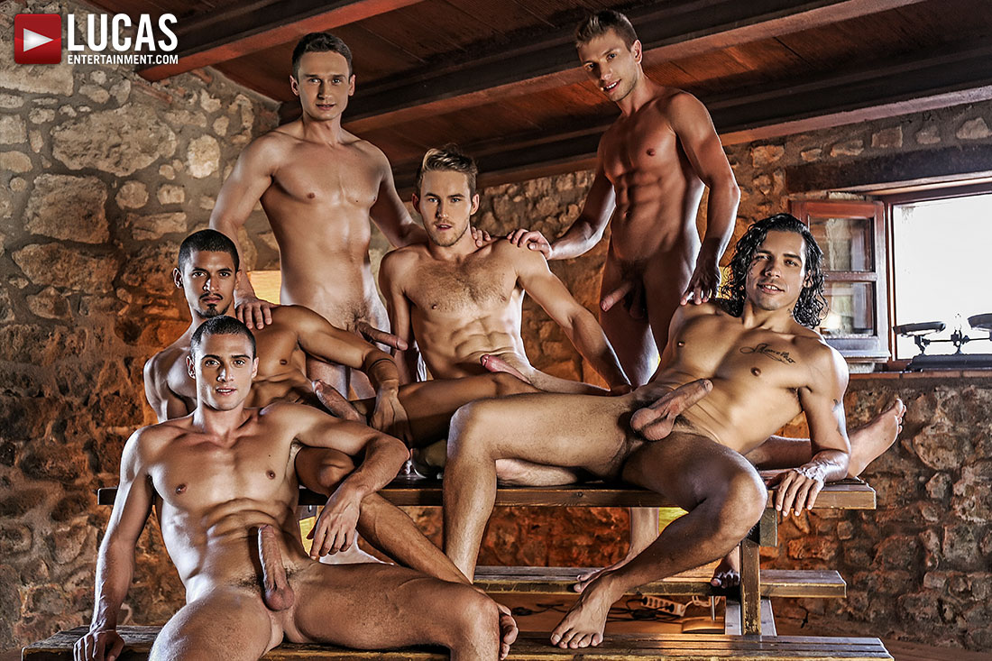 Six Guys, Raw Uncut Cocks, And Double Penetration Today