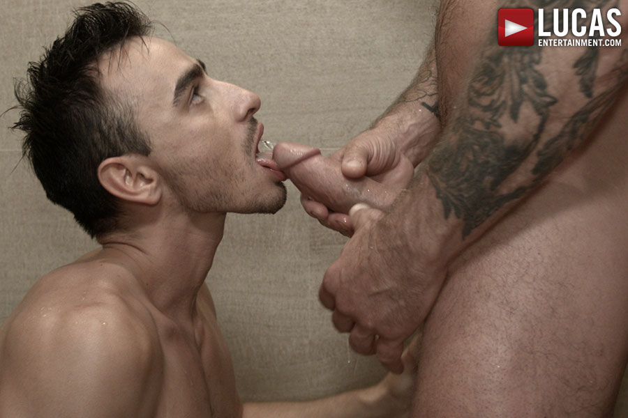 Nigel Banks Takes A Mouthful Of Monster Cock And Piss From Rocco Steele On Lucas Raunch Today