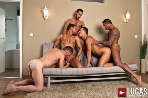 Logan Moore Joins the Bareback Sex Party at Fostter Riviera's Place Tomorrow