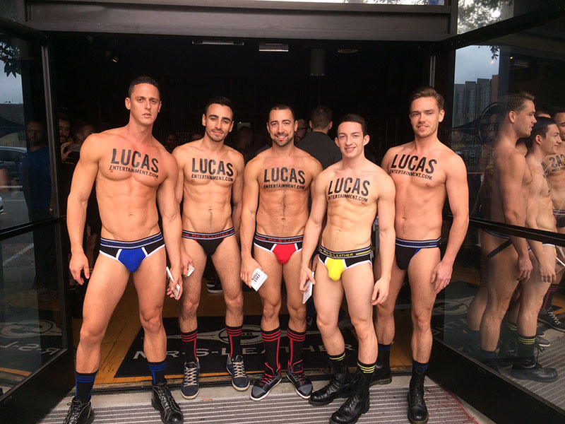 The Lucas Men Model At The Mr. S Leather Party In San Francisco