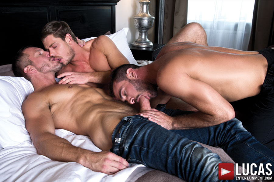 Tomas Brand gets his dick sucked by Toby Dutch and Alejandro Alvarez