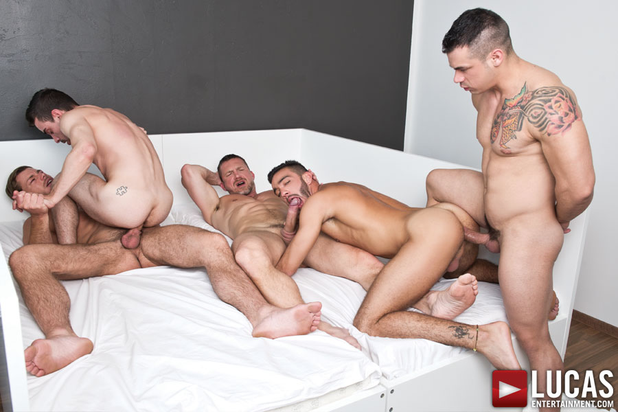 Tomas Brand Stars in a Gay Bareback Sex Orgy with Fernando Torres, Toby Dutch, Josh Milk, and Alejandro Alvarez - Photo 02
