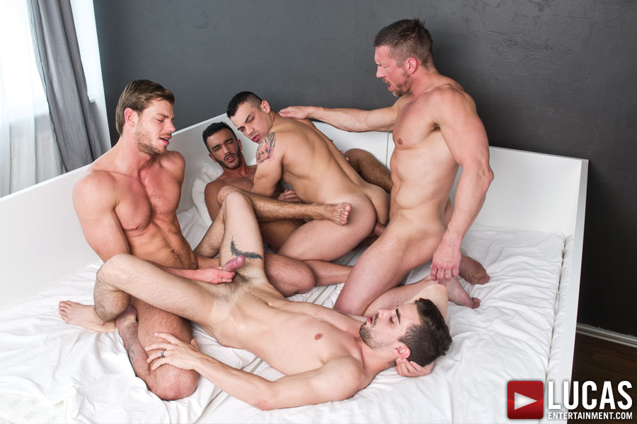 Tomas Brand Stars in a Gay Bareback Sex Orgy with Fernando Torres, Toby Dutch, Josh Milk, and Alejandro Alvarez - Photo 06