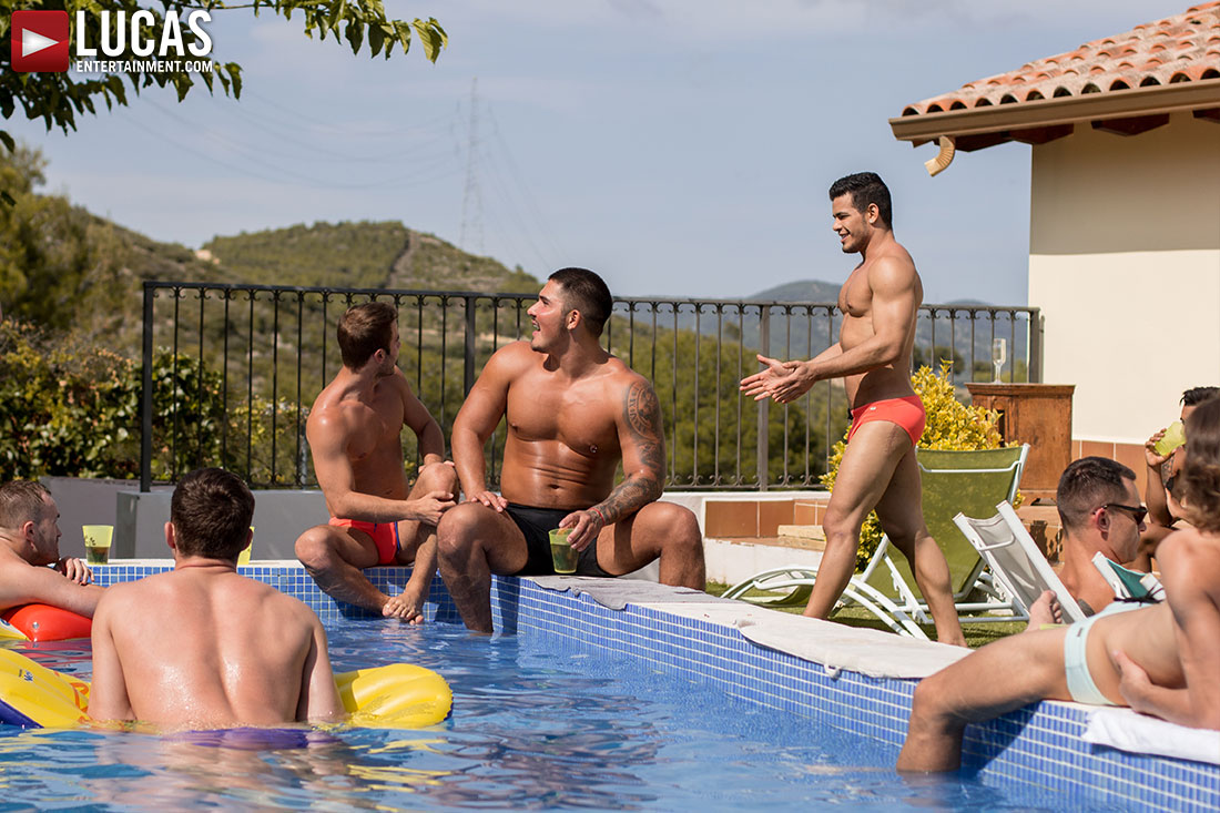 Gay Porn Pool Party In Spain 01 | Lucas Entertainment